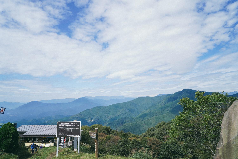 陣馬山の風景