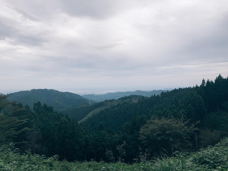 高尾山への道中風景