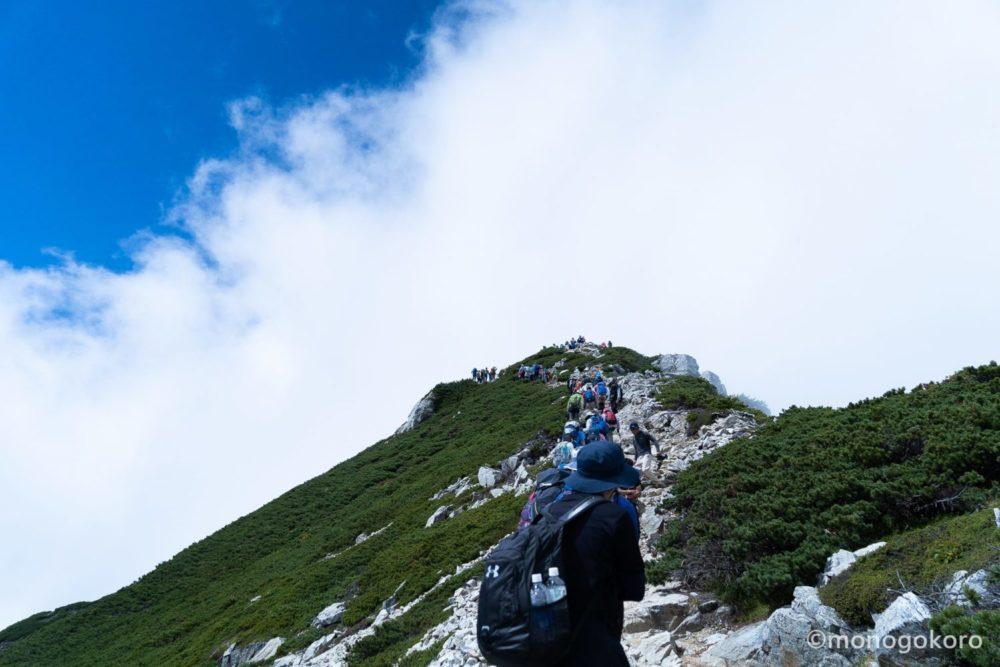 唐松岳頂上への道