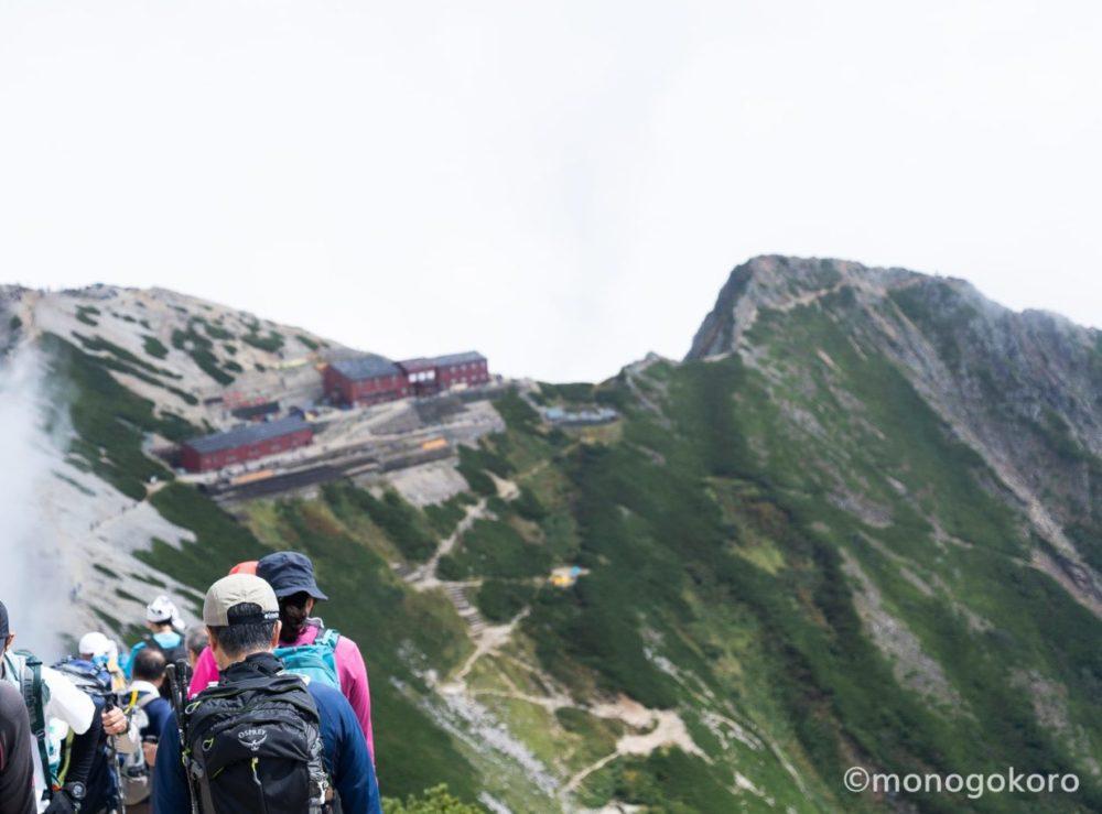 唐松岳頂上山荘へ戻る
